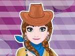 Jeu Elsa et Anna se déguisent en cow-boy