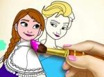 Jouer gratuitement à Livre de coloriage de La Reine des Neiges