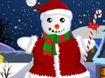 Jeu Habille le Bonhomme de neige pour Noël