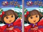 Jouer gratuitement à Christmas Dora: cherche les différences