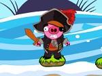 Jouer gratuitement à Bombarde les cochons pirates